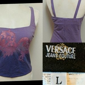 Versace Jeans Couture blouse built in bra stretchy